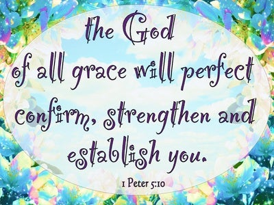 1 Peter 5:10 After You Have Suffered For A Little While (blue)